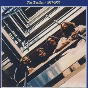 BEATLES-Magnet THE BEATLES 1967-1970 (BLUE ALBUM) LP COVER.