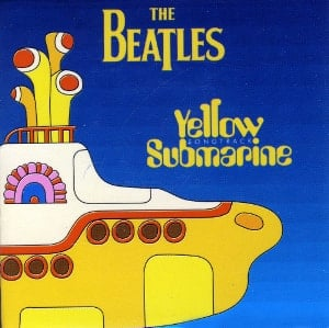 BEATLES-Magnet YELLOW SUBMARINE SONGTRACK LP COVER.