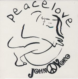 JOHN LENNON-Magnet PEACE LOVE EMBRACE.
