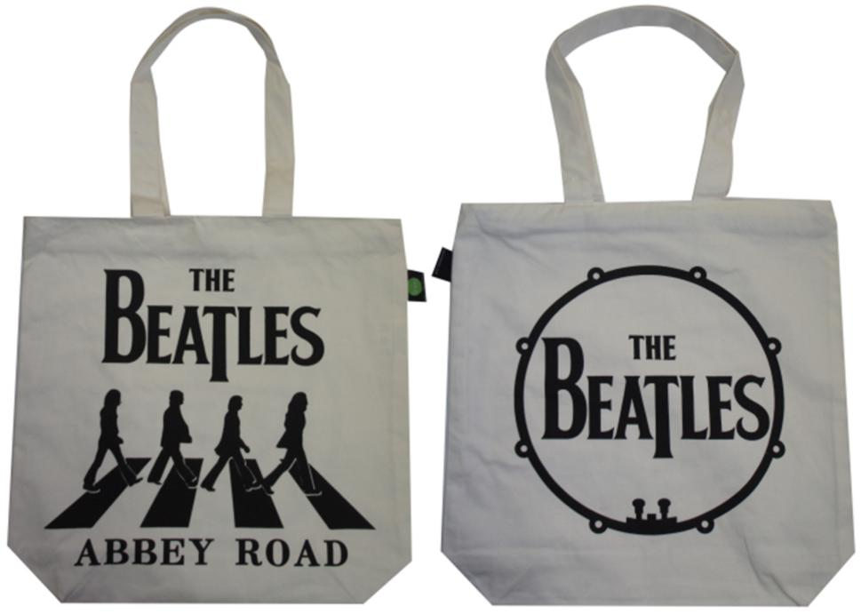 BEATLES-Shopperbag ABBEY ROAD SILHOUETTES BLACK ON WHITE
