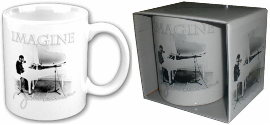 JOHN LENNON: Kaffeebecher IMAGINE PIANO - PHOTO.