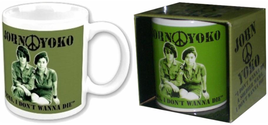 JOHN LENNON: Kaffeebecher I DON'T WANNA BE A SOLDIER.