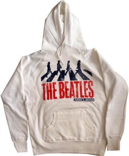 BEATLES-Hoodie ABBEY ROAD WHITE.