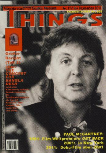 BEATLES: Fan-Magazin THINGS 196