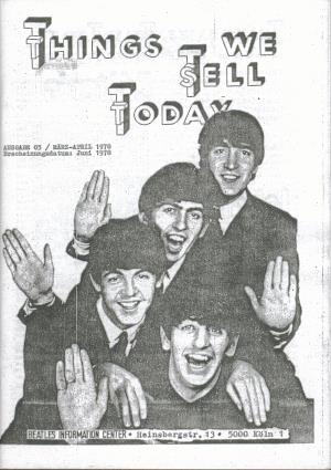 BEATLES: Fan-Magazin THINGS 3 (Nachdruck)