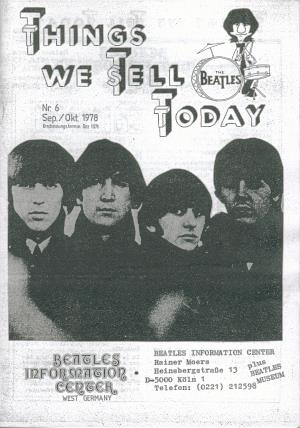 BEATLES: Fan-Magazin THINGS 6