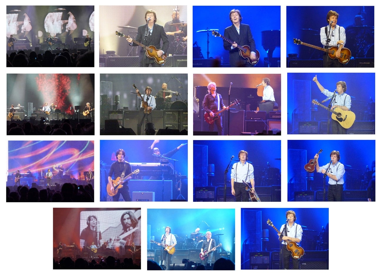 15er Foto-Set: PAUL McCARTNEY-Konzert Köln 01.12.11