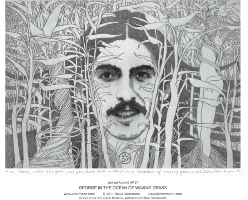 Artprint GEORG IN THE OCEAN OF WAVING GRASS