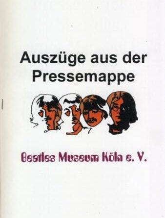 20. Januar 1996: Broschüre BEATLES MUSEUM PRESSEBERICHTE