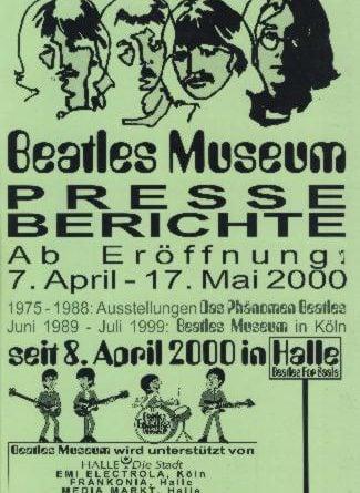 17. Mai 2000: Broschüre BEATLES MUSEUM PRESSEBERICHTE