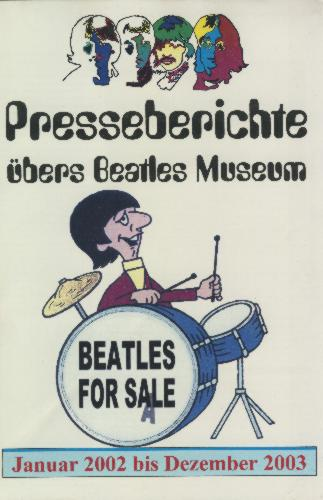 13. Dezember 2003: Broschüre BEATLES MUSEUM PRESSEBERICHTE