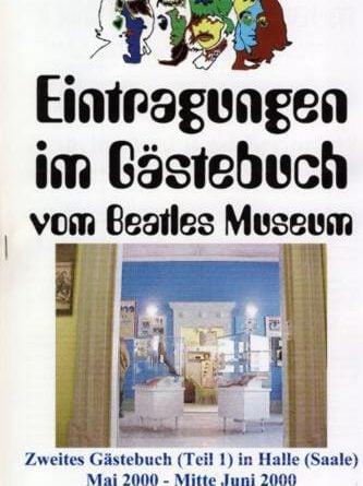 29. Juni 2000: Broschüre BEATLES MUSEUM GÄSTEBUCH