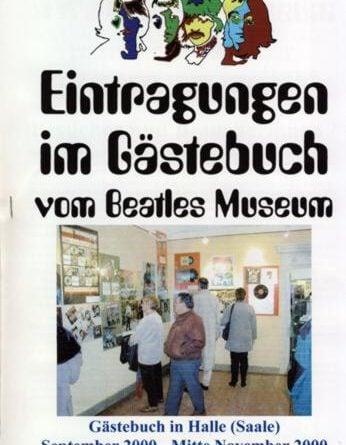 Beatles Museum Gästebuch bis zu dem 21. November 2000