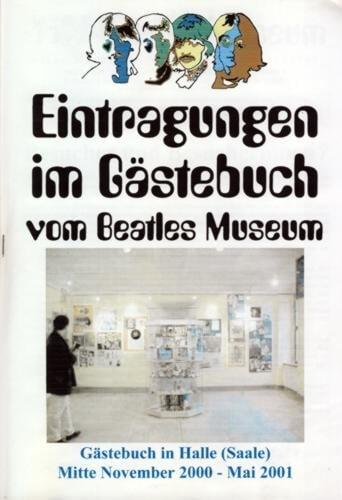 24. Mai 2001: Broschüre BEATLES MUSEUM GÄSTEBUCH