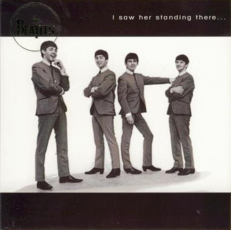 BEATLES-Grußkarte B-01: I SAW HER STANDING THERE