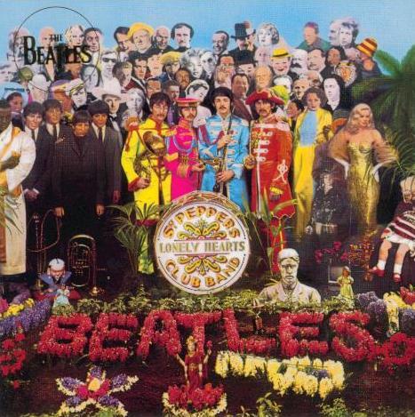 BEATLES-Grußkarte B-10: SGT PEPPER ALBUM COVER FRONT