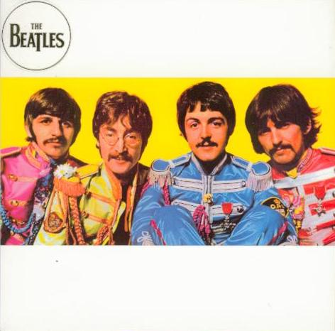 BEATLES-Grußkarte B-11: SGT PEPPER ALBUM COVER INSIDE.