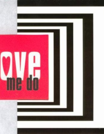 BEATLES-Grußkarte C-01: LOVE ME DO