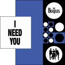 BEATLES-Grußkarte C-04: I NEED YOU.