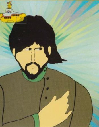 BEATLES-Grußkarte D-03: YELLOW SUBMARINE GEORGE