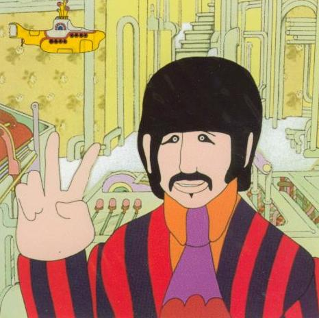 BEATLES-Grußkarte D-04: YELLOW SUBMARINE RINGO