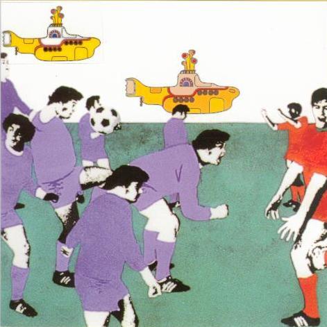 BEATLES-Grußkarte E-02: YELLOW SUBMARINE - FOOTBALL