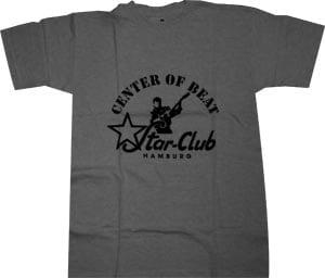 """T-Shirt STAR-CLUB, Emblem und Aufschrift: """"CENTER OF BEAT - STAR"""
