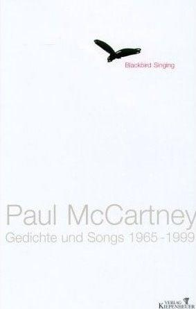 PAUL McCARTNEY: gebrauchtes Buch BLACKBIRD SINGING GEDICHTE UND