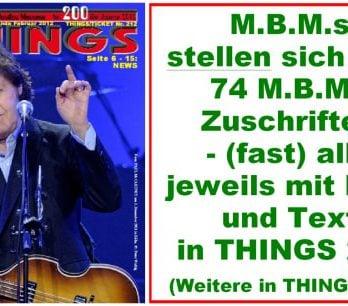 BEATLES: Fan-Magazin THINGS 200