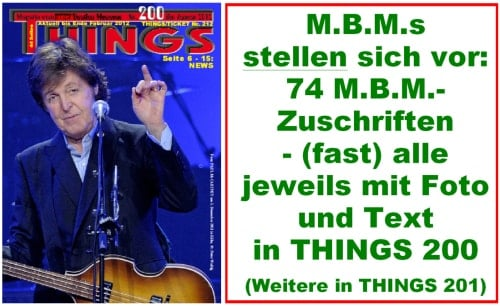 BEATLES: Fan-Magazin THINGS 200