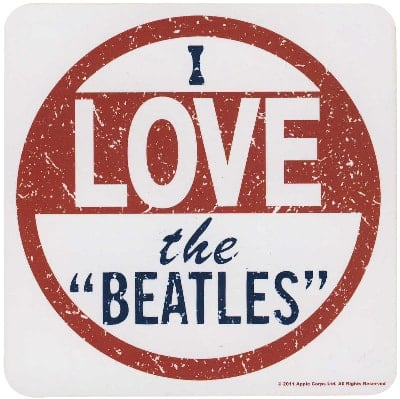 BEATLES Untersetzer I LOVE THE BEATLES
