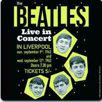 BEATLES Untersetzer THE BEATLES LIVE IN CONCERT - IN LIVERPOOL