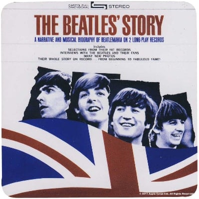 BEATLES Untersetzer THE BEATLES' STORY ALBUM COVER USA