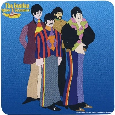BEATLES Untersetzer YELLOW  SUBMARINE  FIGURES