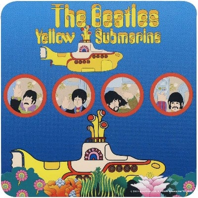 BEATLES Untersetzer YELLOW SUBMARINE PORTHOLES