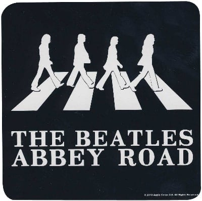 BEATLES Untersetzer ABBEY ROAD SHADOWS