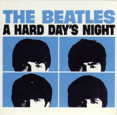 BEATLES-Magnet A HARD DAY'S NIGHT ALBUM COVER USA IN BLUE