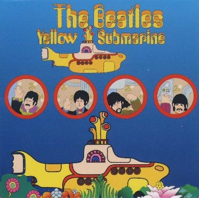 BEATLES-Magnet YELLOW SUBMARINE PORTHOLES