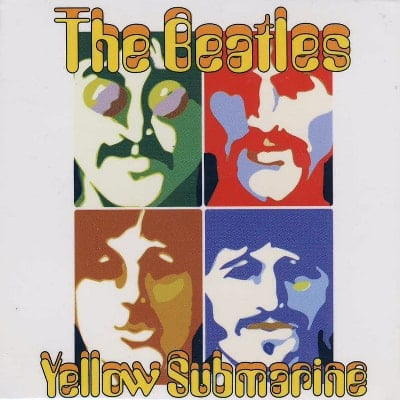 BEATLES-Magnet YELLOW SUBMARINE PSYCHEDELIC FACES