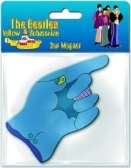 BEATLES: Magnet YELLOW SUBMARINE GLOVE