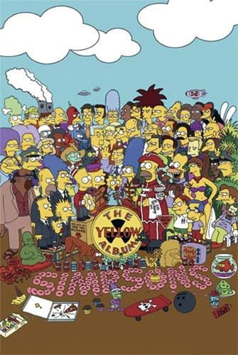 Poster SIMPSONS SGT. PEPPER