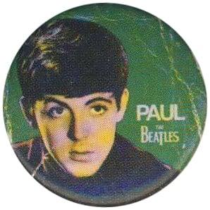 BEATLES-Button PAUL 1963