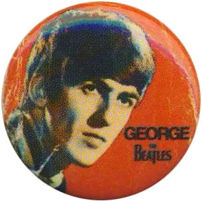 BEATLES-Button GEORGE 1963