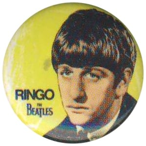 BEATLES-Button RINGO 1963