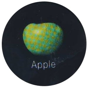 BEATLES-Button APPLE LOGO