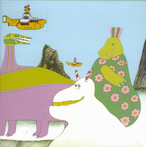 BEATLES-Grußkarte E-01: YELLOW SUBMARINE - SEA OF MONSTER