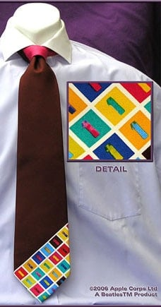 BEATLES: Krawatte ALBUM ONE - ONE BAR