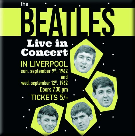 Magnet  BEATLES LIVE IN CONCERT IN LIVERPOOL