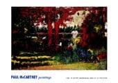 Poster PAUL McCARTNEY PAINTING - ANDY IN THE GARDEN