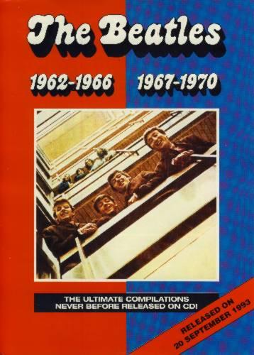 BEATLES-Promotionblatt RED & BLUE ALBUM